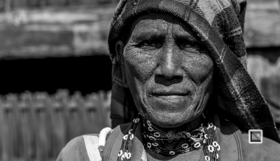 Myanmar Chin Tribe Portraits Black and White-29