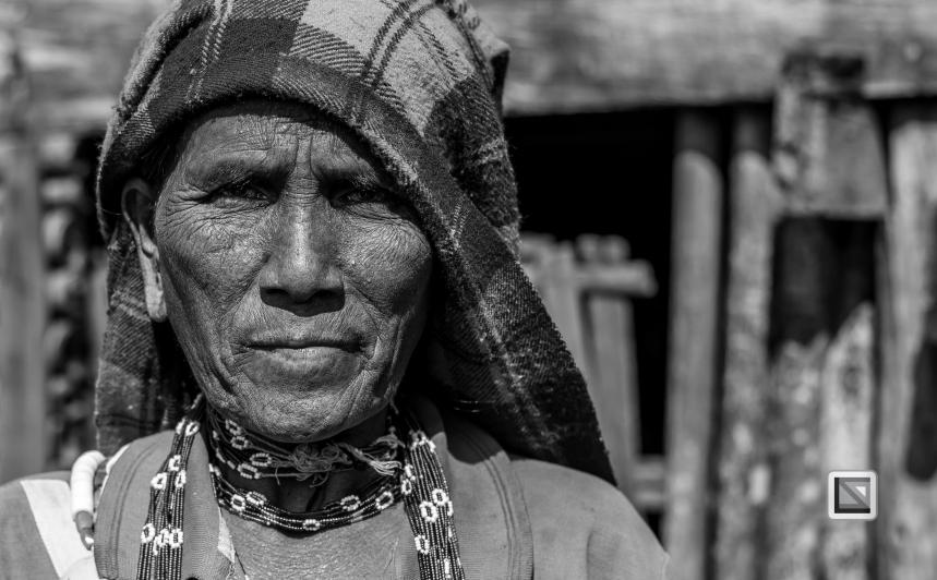 Myanmar Chin Tribe Portraits Black and White-30
