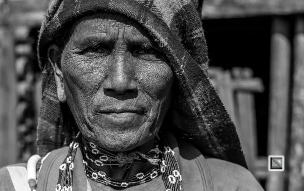 Myanmar Chin Tribe Portraits Black and White-31