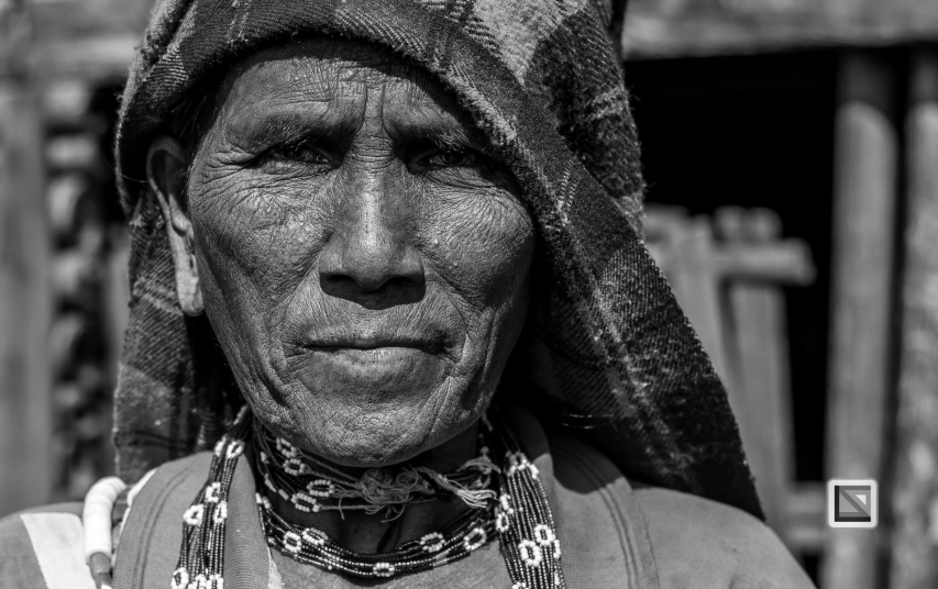 Myanmar Chin Tribe Portraits Black and White-31