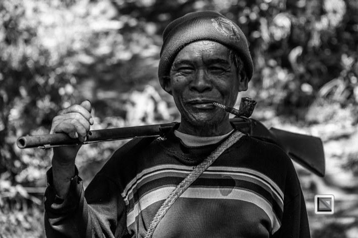 Myanmar Chin Tribe Portraits Black and White-33