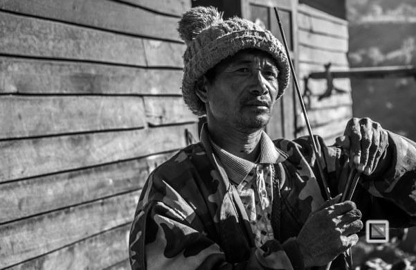 Myanmar Chin Tribe Portraits Black and White-34