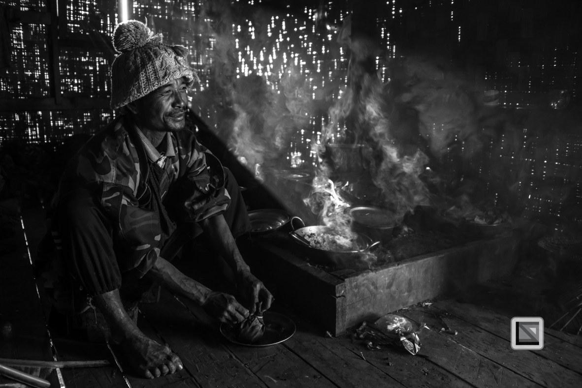 Myanmar Chin Tribe Portraits Black and White-35