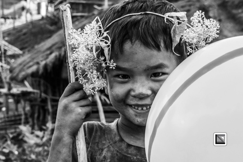 Myanmar Chin Tribe Portraits Black and White-36