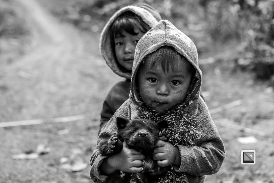 Myanmar Chin Tribe Portraits Black and White-37