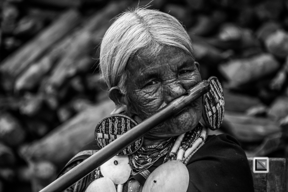 Myanmar Chin Tribe Portraits Black and White-4
