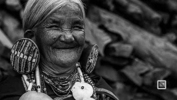 Myanmar Chin Tribe Portraits Black and White-6