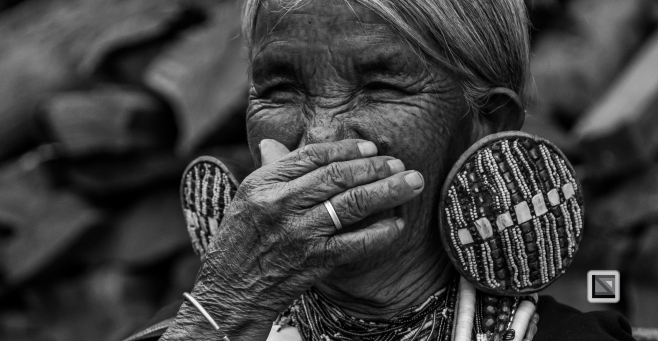 Myanmar Chin Tribe Portraits Black and White-7