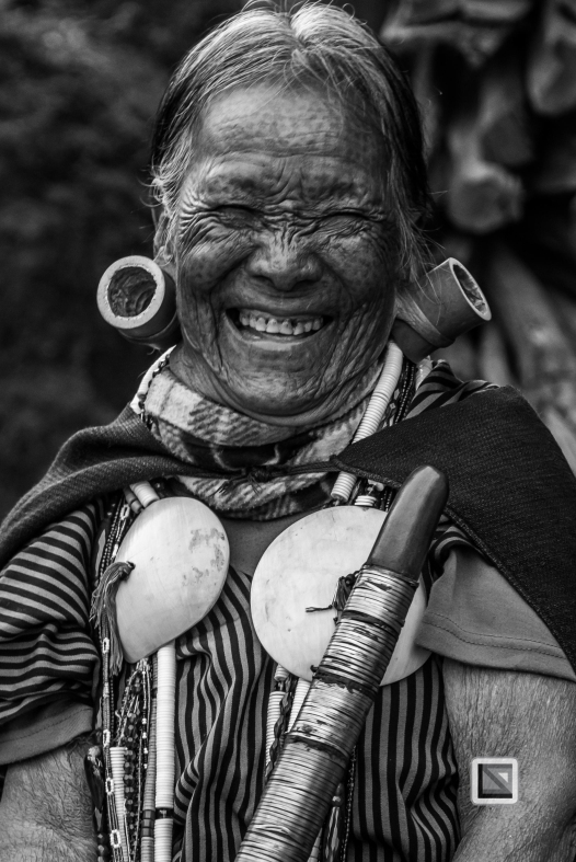 Myanmar Chin Tribe Portraits Black and White-9