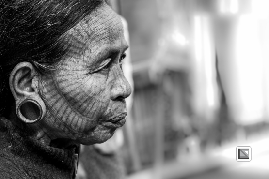 Myanmar Chin Tribe Portraits Black and White Mrauk-U-10