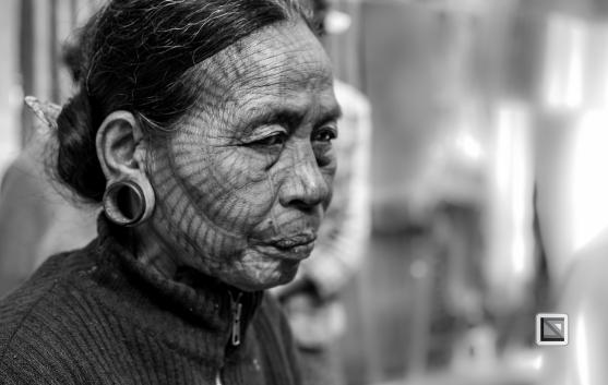 Myanmar Chin Tribe Portraits Black and White Mrauk-U-11