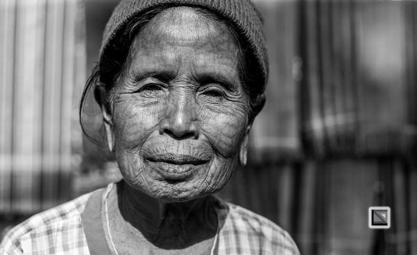 Myanmar Chin Tribe Portraits Black and White Mrauk-U-12