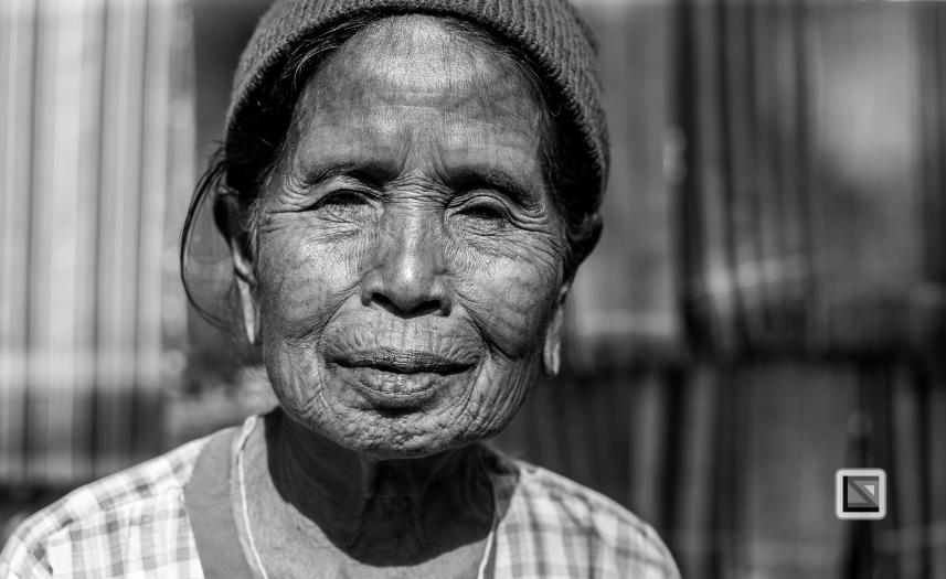Myanmar Chin Tribe Portraits Black and White Mrauk-U-12
