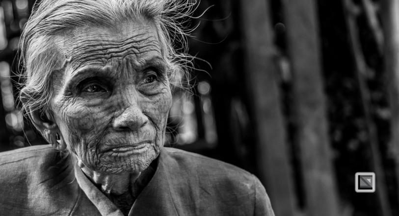 Myanmar Chin Tribe Portraits Black and White Mrauk-U-13