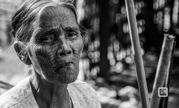 Myanmar Chin Tribe Portraits Black and White Mrauk-U-14