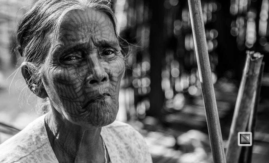 Myanmar Chin Tribe Portraits Black and White Mrauk-U-14