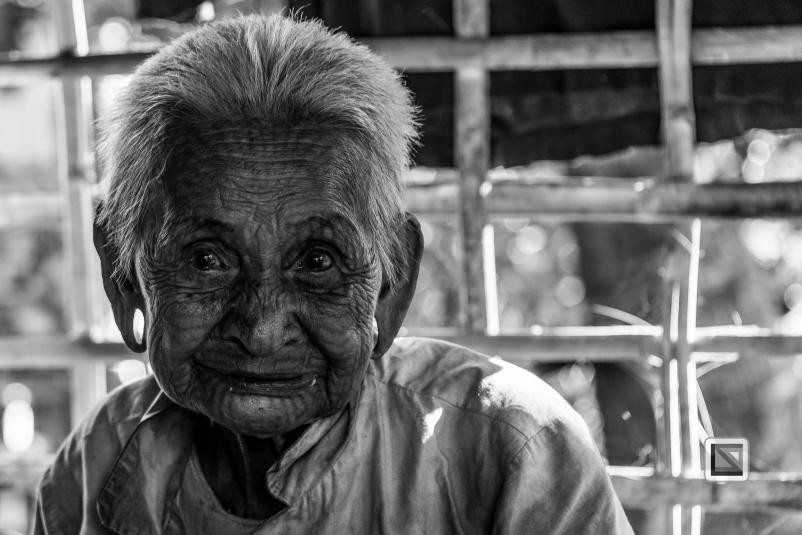 Myanmar Chin Tribe Portraits Black and White Mrauk-U-15