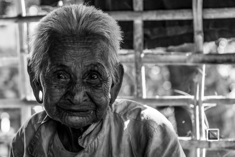 Myanmar Chin Tribe Portraits Black and White Mrauk-U-15