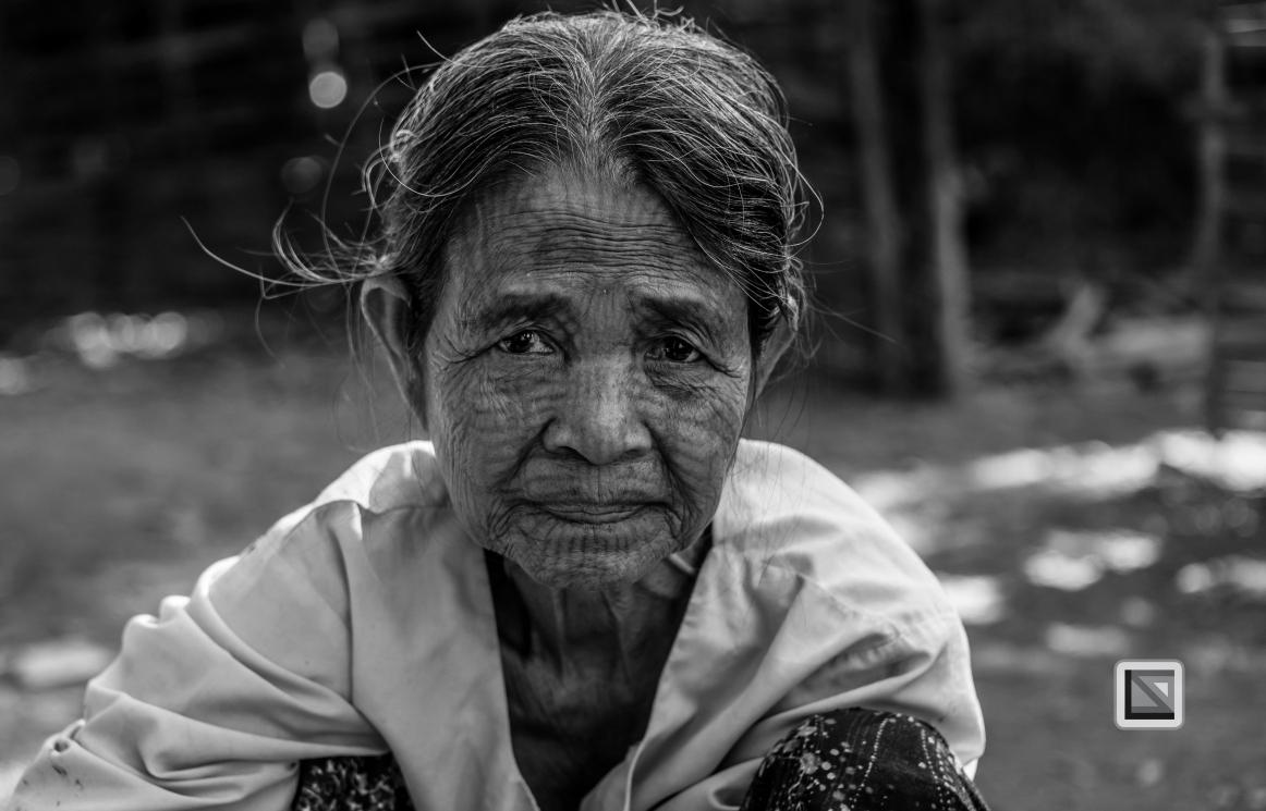 Myanmar Chin Tribe Portraits Black and White Mrauk-U-16
