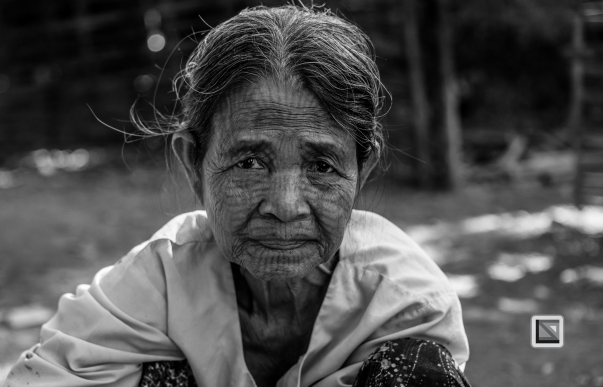 Myanmar Chin Tribe Portraits Black and White Mrauk-U-16