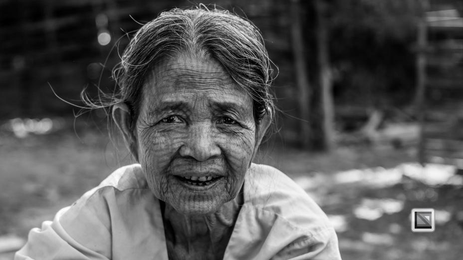 Myanmar Chin Tribe Portraits Black and White Mrauk-U-17