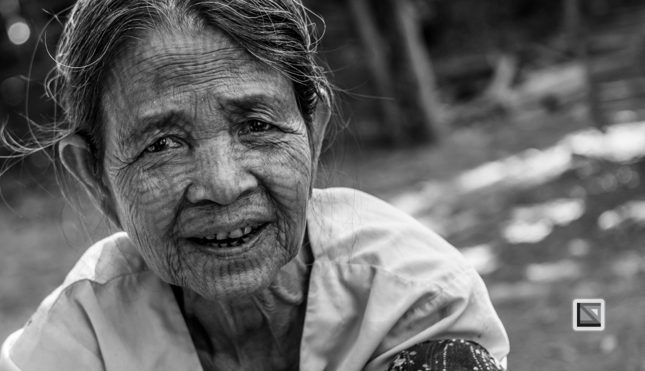 Myanmar Chin Tribe Portraits Black and White Mrauk-U-18