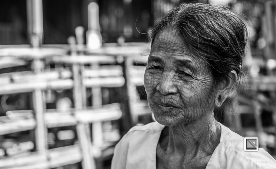 Myanmar Chin Tribe Portraits Black and White Mrauk-U-19