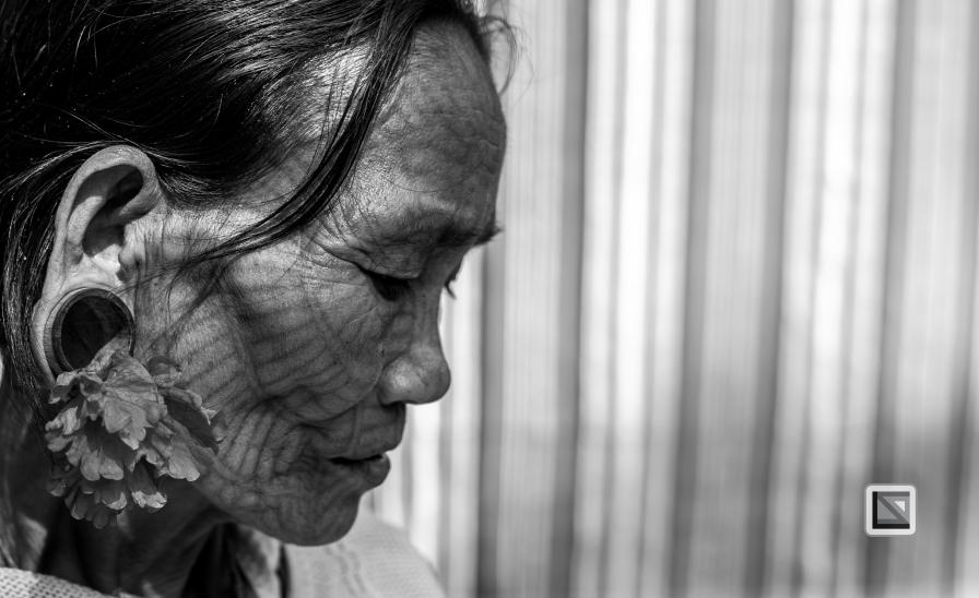 Myanmar Chin Tribe Portraits Black and White Mrauk-U-2