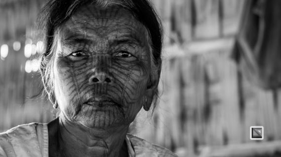 Myanmar Chin Tribe Portraits Black and White Mrauk-U-20