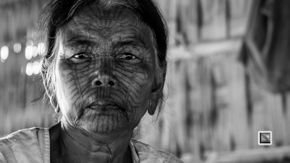 Myanmar Chin Tribe Portraits Black and White Mrauk-U-20