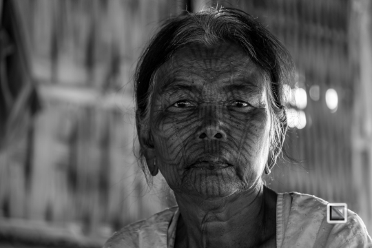 Myanmar Chin Tribe Portraits Black and White Mrauk-U-21