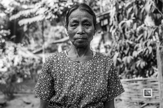 Myanmar Chin Tribe Portraits Black and White Mrauk-U-22
