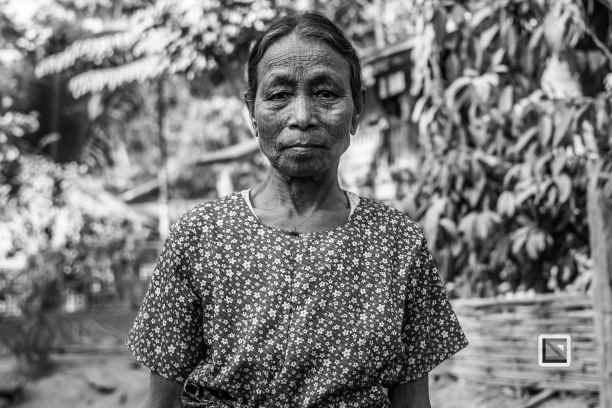 Myanmar Chin Tribe Portraits Black and White Mrauk-U-22
