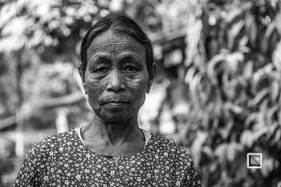 Myanmar Chin Tribe Portraits Black and White Mrauk-U-23