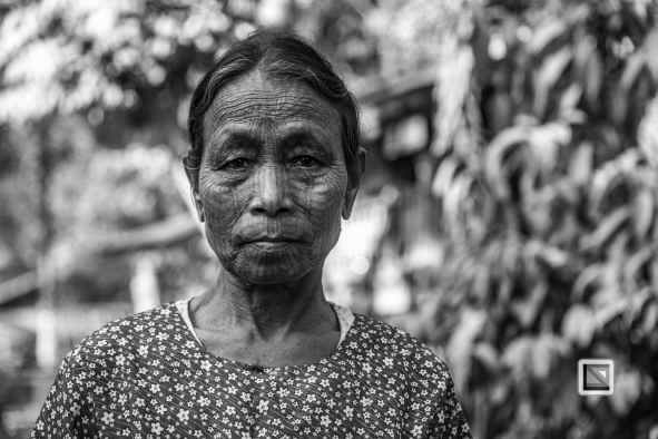 Myanmar Chin Tribe Portraits Black and White Mrauk-U-23