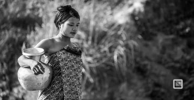 Myanmar Chin Tribe Portraits Black and White Mrauk-U-24