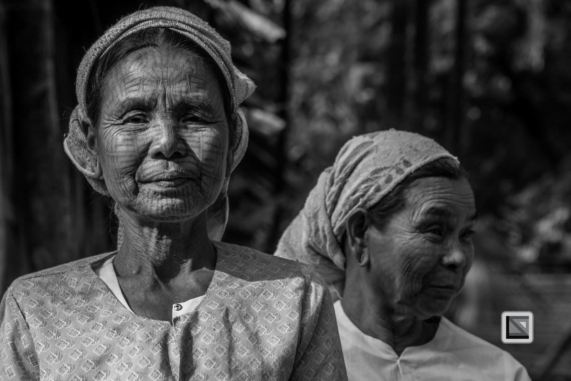 Myanmar Chin Tribe Portraits Black and White Mrauk-U-27