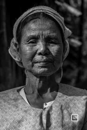 Myanmar Chin Tribe Portraits Black and White Mrauk-U-28