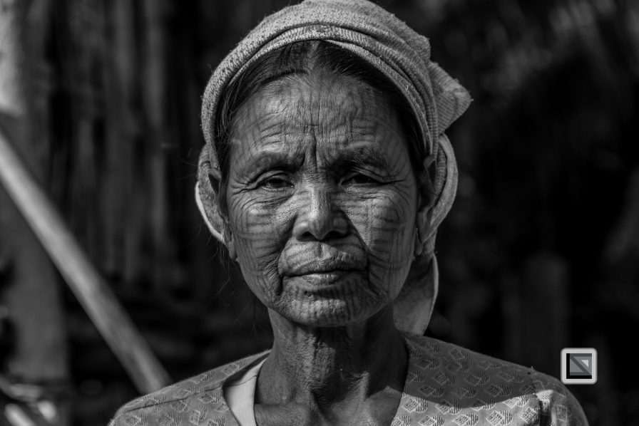Myanmar Chin Tribe Portraits Black and White Mrauk-U-29