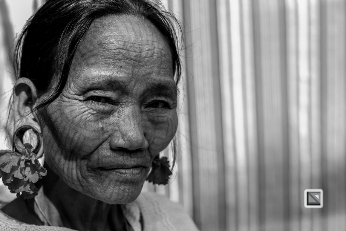 Myanmar Chin Tribe Portraits Black and White Mrauk-U-3