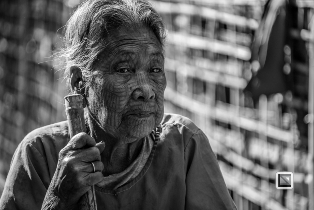 Myanmar Chin Tribe Portraits Black and White Mrauk-U-32