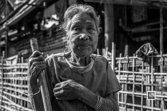 Myanmar Chin Tribe Portraits Black and White Mrauk-U-33