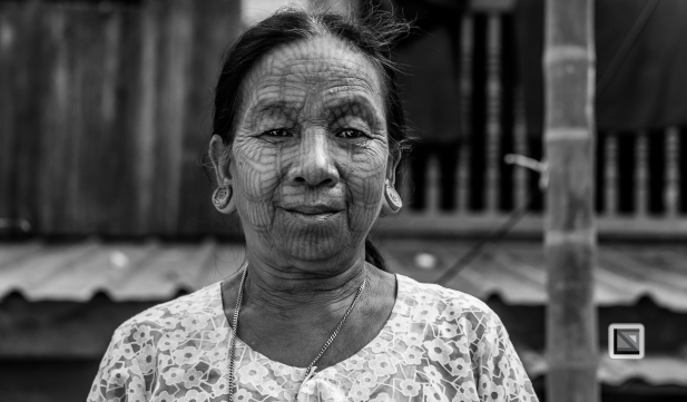 Myanmar Chin Tribe Portraits Black and White Mrauk-U-38