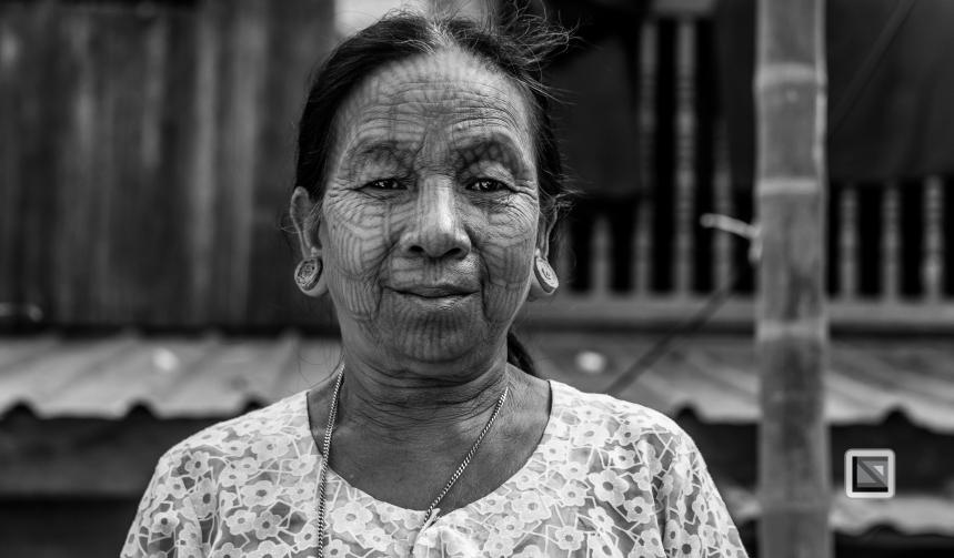 Myanmar Chin Tribe Portraits Black and White Mrauk-U-38