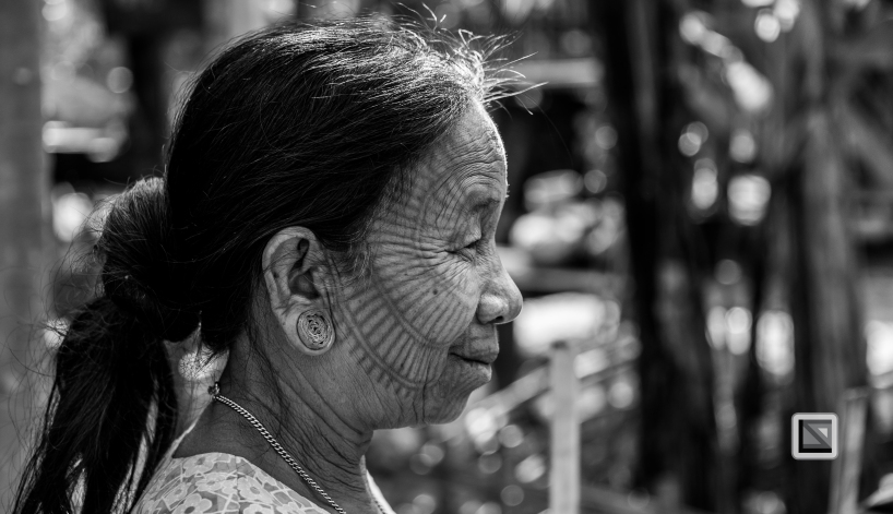 Myanmar Chin Tribe Portraits Black and White Mrauk-U-39
