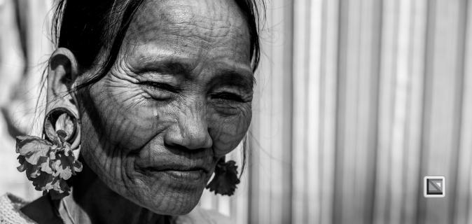Myanmar Chin Tribe Portraits Black and White Mrauk-U-4