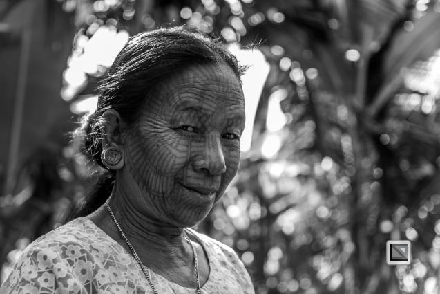 Myanmar Chin Tribe Portraits Black and White Mrauk-U-40