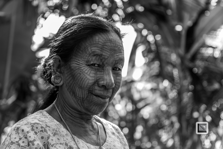 Myanmar Chin Tribe Portraits Black and White Mrauk-U-40
