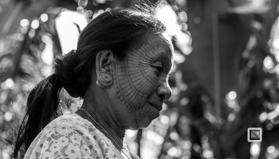 Myanmar Chin Tribe Portraits Black and White Mrauk-U-41