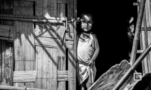 Myanmar Chin Tribe Portraits Black and White Mrauk-U-42